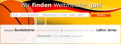 Personen zur Basketball-Weltmeisterschaft by yasni.de