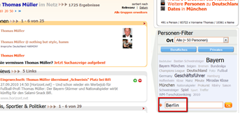 Name Thomas Müller im Netz