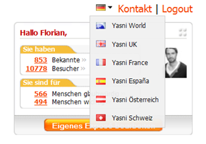 Yasni-Domains wechseln