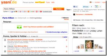 Paris Hilton im Internet